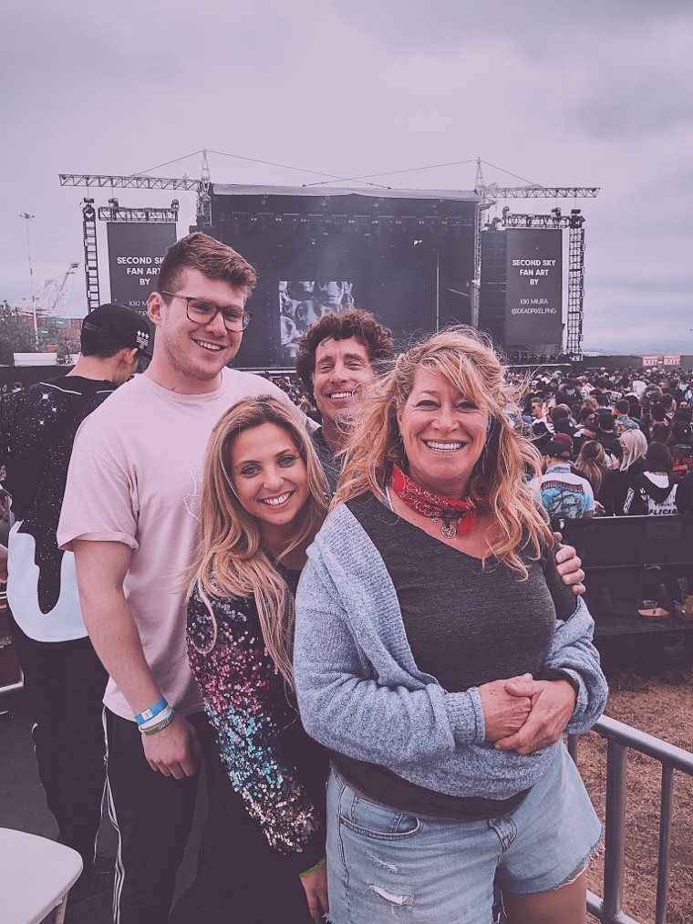 Levitate Events co-founders Noah Levinson and Jobi Halper love attending concerts with their family. - LEVITATE EVENTS