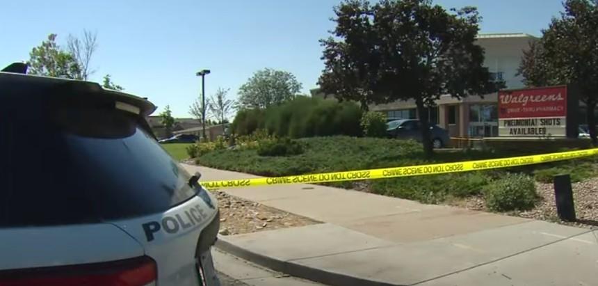 After the shooting. - CBS4 DENVER VIA YOUTUBE
