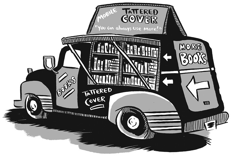 Even though the Tattered Cover spots in the airport have limited selections compared with the stores in town, a Tattered Cover bookmobile could help fill the gaps — and aid travelers facing long delays to their next destination. - KARL CHRISTIAN KRUMPHOLZ