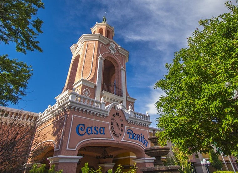 Casa Bonita has been a towering pink presence on West Colfax for nearly five decades. - EVAN SEMÓN