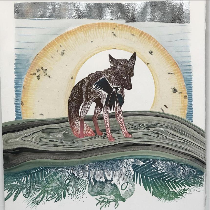 One creature from Johanna Mueller's menagerie - of animals in nature. - JOHANNA MUELLER