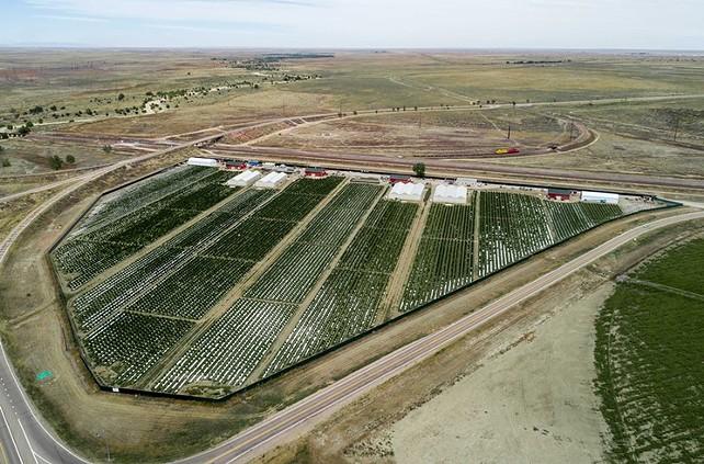 An overhead shot of Las Granjas Los Sueños in Pueblo County.  - ELEV8 NEW MEDIA