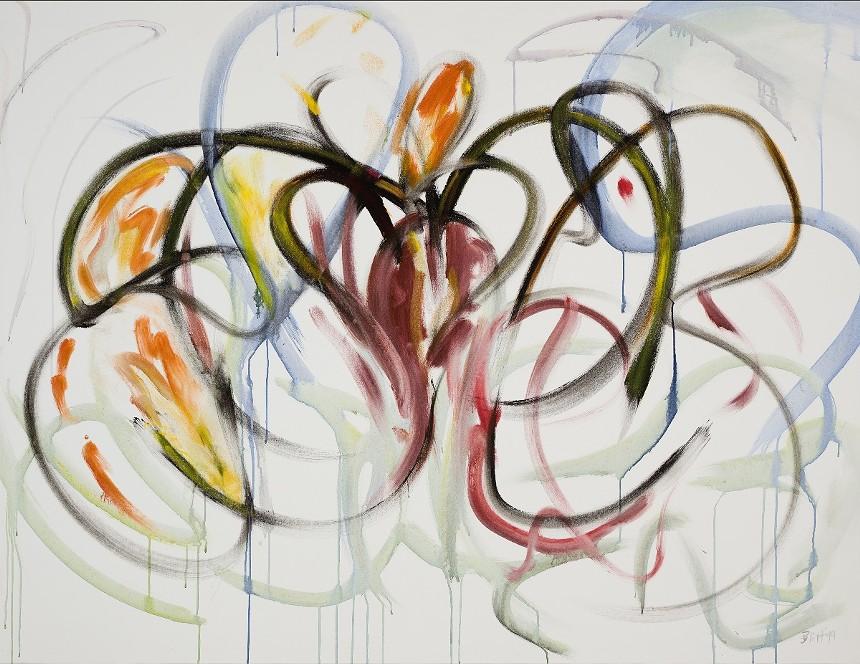 """Rita Blitt, """"Nocturne,"""" acrylic on canvas. - RITA BLITT"""