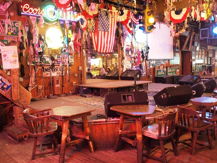 Live music and cold beer can be found at the Little Bear Saloon - JON SOLOMON