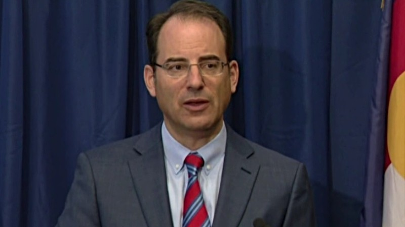 Colorado Attorney General Phil Weiser taking a question during his September 15 press conference.