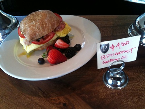 A breakfast sandwich is among the new a.m. offerings at Paisan in Berkeley.