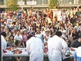 RUSS FERNALD - A butchery contest at last year's Eat Real Festival.