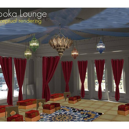 A digital rendering of Oasis Lounge interior (via Facebook).