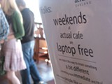 LUKE TSAI - A laptop-free zone on weekends at Actual Cafe.