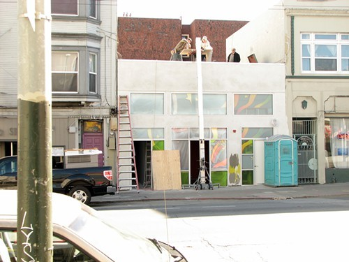 A Mission St dispensary under construction.