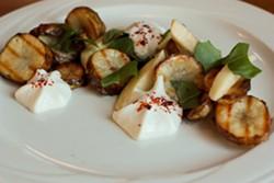 """Like having a campfire in the woods"" — sunchoke salad at Veg 388. - VEG 388"