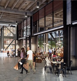 A rendering of one of the entrances to Newberry Market. - STEELBLUE