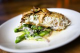 CHRIS DUFFEY - A rich lingcod filet was crusted in salty potato shavings.