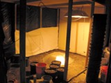 ALEX WEBER - A room at Off-Ramp Studios that officials took to be a marijuana grow room.