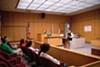 A young attorney at McCullum Youth Court presents an argument to a jury of his peers.