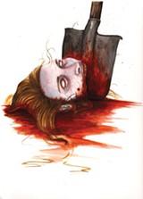 A zombie head.
