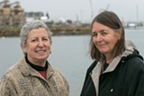 BERT JOHNSON - Activists Sandra Threlfall and Naomi Schiff at Brooklyn Basin.