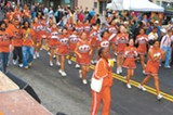 Albany High cheerleaders at last year's Solano Stroll.