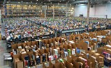 WIKIMEDIA COMMONS - Amazon warehouses are dehumanizing hives.