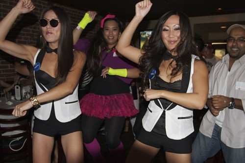 An earlier Gangnam Style flash mob dish crawl in San Jose.