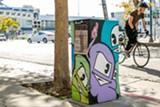 BERT JOHNSON - An Express as art box in Oakland's Jack London district.