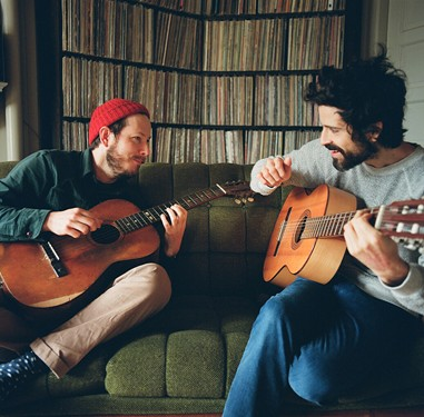 Andy Cabic (left) and Devendra Banhart.