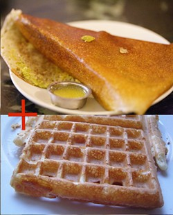 Are you ready for the Doswaffle? (Images via Wikimedia Commons.)