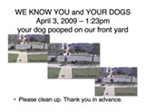 MIKHAIL - Attention undercover poopers: We know you and your dogs.