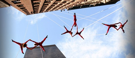 Bandaloop will be performing at UC Berkeley on the Campanile on Saturday.