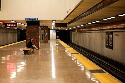 BART at midnight