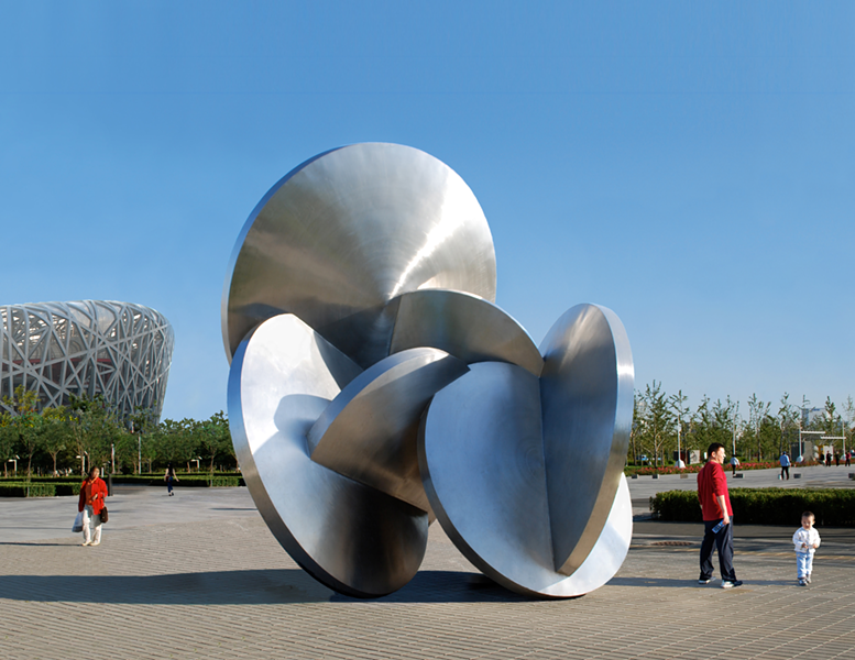 "Beasley's ""Gathering of the Moons"" (2007) in Olympic Park, Beijing. - BRUCE BEASLEY"