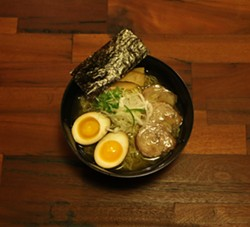 Beta version of a clear-broth ramen that customers might find on the menu. - SHIBA RAMEN