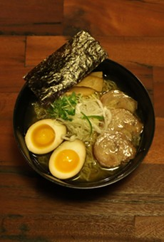 Beta version of a clear-broth ramen that customers might find on the menu.