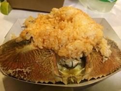 The best part of Hang Ten Boiler's Asian-Cajun crab. - LUKE TSAI