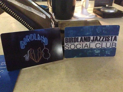 Birdland membership cards.
