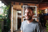 BERT JOHNSON - Bobby Stone's tiny shack is mobile, collapsible, and very economical.