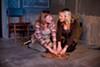 Caitlyn Tella and Luisa Frasconi in <i>The Chalk Boy</i>.
