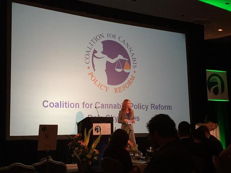 CCPR chair Jones presents at the ArcView Group's investor forum Monday. - (VIA CCPR)