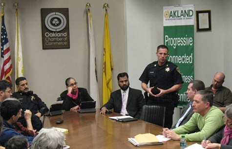 Captain Darren Allison addressed the League of Women Voters forum last week on the DAC.