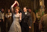 "Carey Mulligan as ""Bathsheba"" and Tom Sturridge as ""Sergeant Troy"" in Far from the Maddening Crowd."