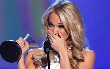 CARRIE UNDERWOOD IS CRYING, GUYS