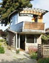 Cate Leger's company designed the McGee house, which features salvaged car roofs.