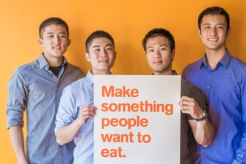 Caviar founders Andy Zhang (left), Jason Wang, Richard Din, and Shawn Tsao