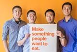 Caviar founders Andy Zhang (left), Jason Wang, Richard Din, and Shawn Tsao.