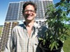 Charley Custer has solar panels and thirty organically grown pot plants on his property.