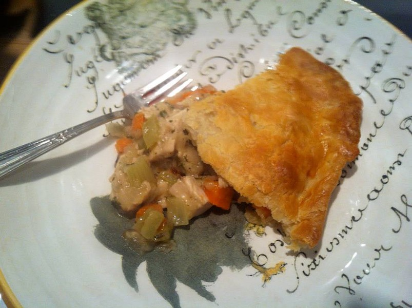 Chicken pot pie (via Facebook).