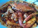 LUKE TSAI - China Village's ma po tofu Dungeness crab.