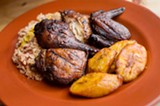 CHRIS DUFFEY - Compared to other jerk chicken dishes, Kingston 11's version is smoked.