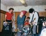 Cyrus Nails, Robin Tussin, Jim Nastic, and Josh Indar perform in 1994 at The Fireside Bowl in Chicago.