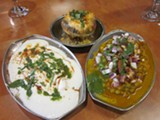 ZAINEB MOHAMMED - Dahi vada (far left), one of the most delicious yet hard to find chaat items, is available at Chaat House.
